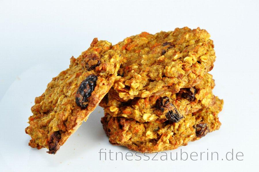 Gesunde Karotten-Apfel-Kekse oder -Brot Ohne Mehl, Zucker und Fett