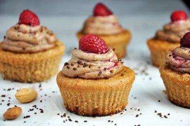 Mandel-Cupcakes mit Kaffee-Cashew-Creme (Glutenfrei)