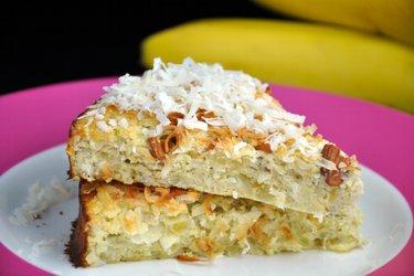 Gesunder Kokos-Bananenkuchen (Zucker- und Glutenfrei)