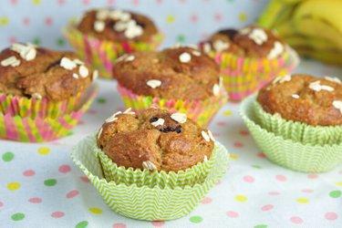 Rezept für gesunde Bananen-Muffins mit Hafermehl