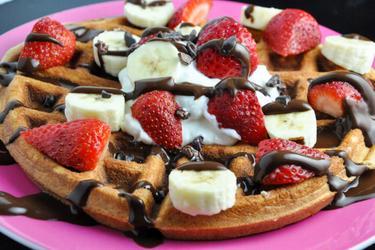 Glutenfreie Proteinwaffeln/Pancakes