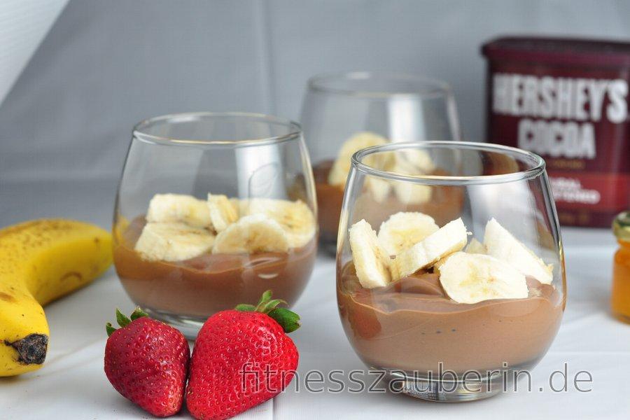 Gesunder Schoko-Bananen-Pudding