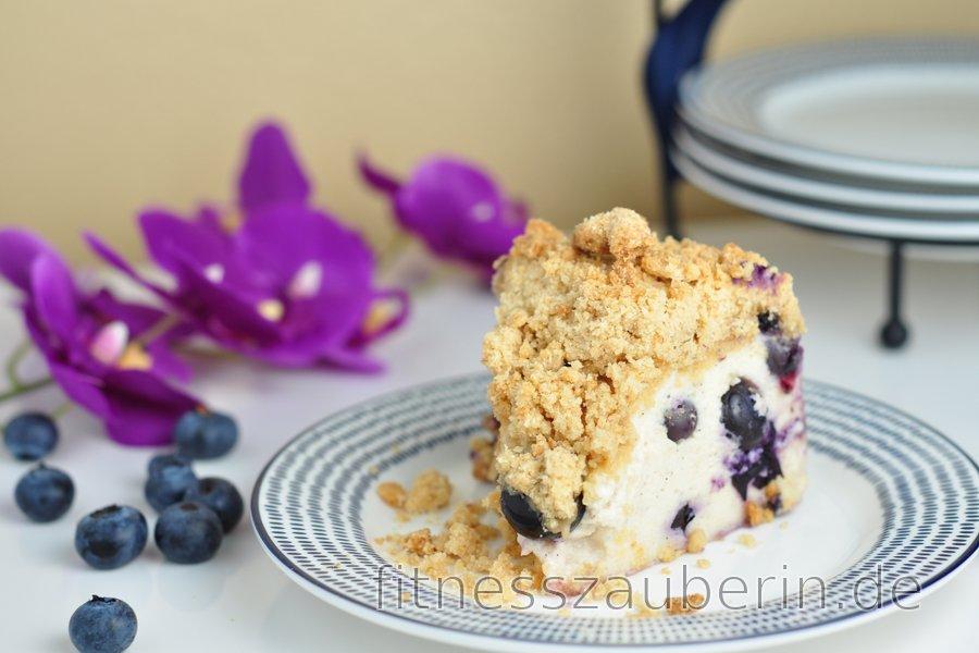 Blaubeer-Joghurt-Kuchen mit knusprigen Streuseln