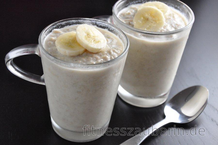 Bananen-Kokos-Pudding (Zuckerfrei, Glutenfrei)