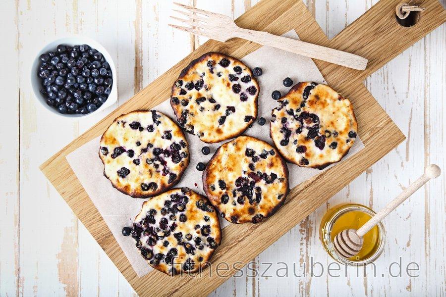 Gesunde Gebackene Quark-Proteinpfannkuchen