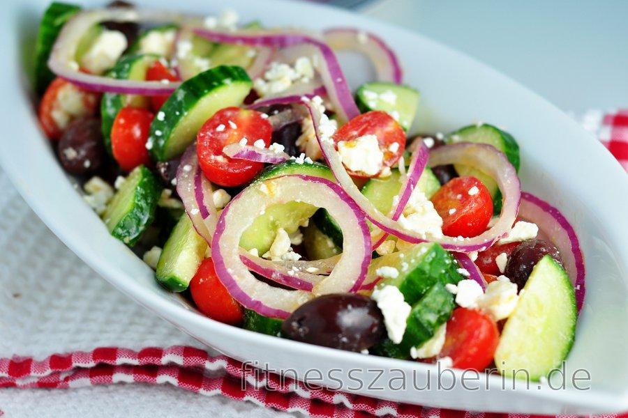 Einfacher griechischer Salat