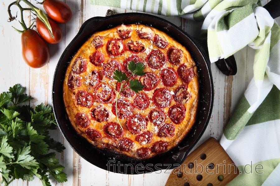 Kohlenhydratarme Tomaten-Frittata