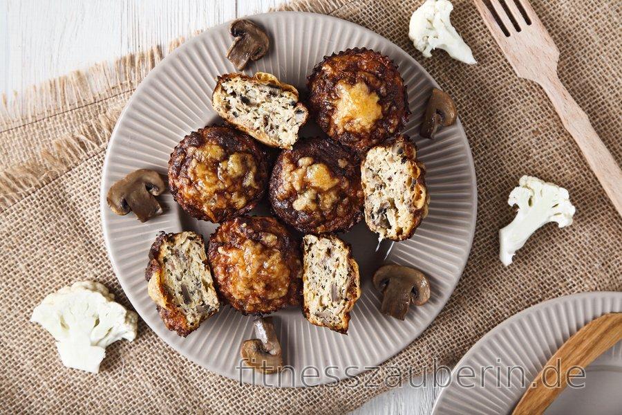 Gesunden Blumenkohl-Pizza-Muffins