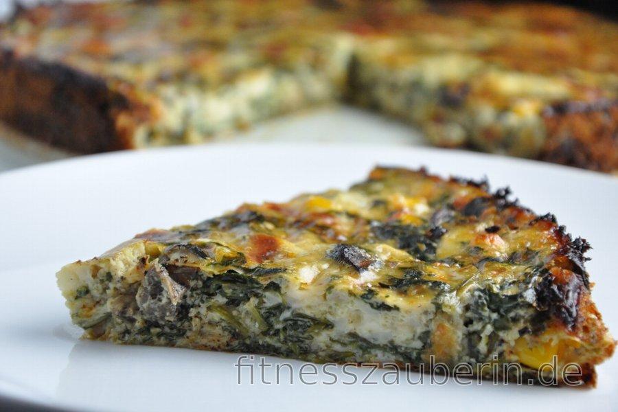 Glutenfreie Spinat-Quiche