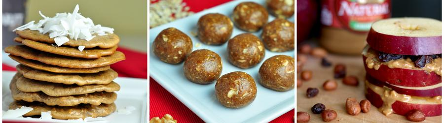Rezepte für gesunde Erdnussbutter-Snacks