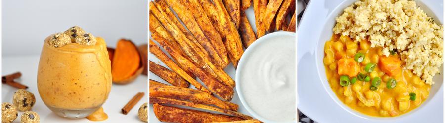 Gesunde vegane Süßkartoffelrezepte