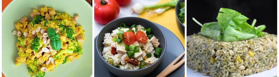 Gesunde Vegane Rezepte mit Reis