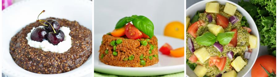 Gesunde glutenfreie Quinoa-Rezepte
