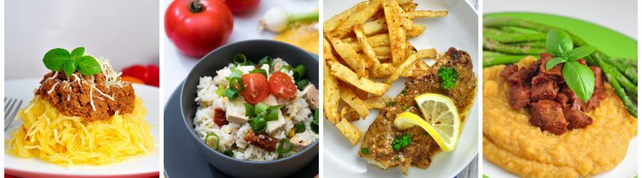 Glutenfreies Abend- und Mittagsessen