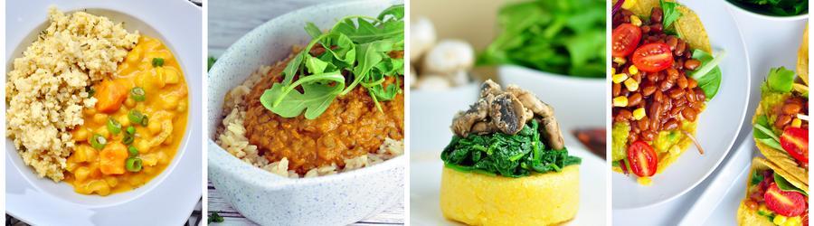 Gesunde und vegane Rezepte für Abend- und Mittagsessen