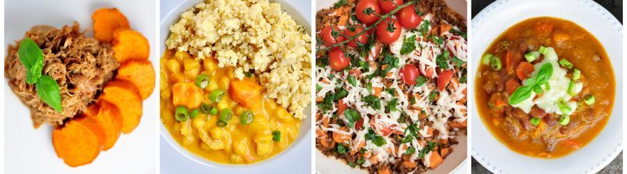 Gesunde Süßkartoffelrezepte für Abend- und Mittagessen