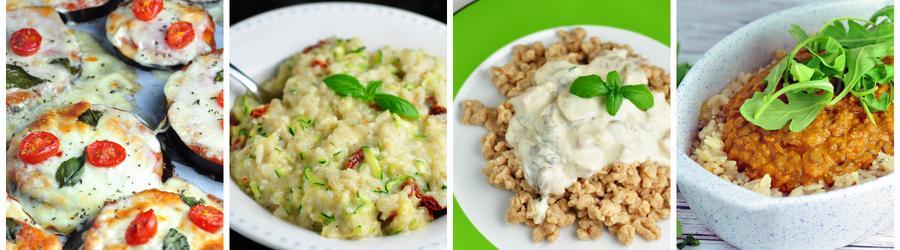 Gesunde vegetarische Rezepte zum Abend- und Mittagsessen